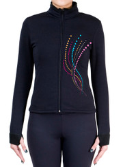 Fitted Skating Fleece Jacket with Spangles S114