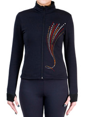 Fitted Skating Fleece Jacket with Spangles S115