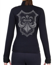 Fitted Skating Fleece Jacket with Rhinestones R124