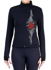 Fitted Skating Fleece Jacket with Rhinestones R87