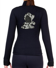 Fitted Skating Fleece Jacket with Rhinestones R133