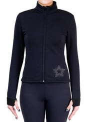 Fitted Skating Fleece Jacket with Rhinestones R137