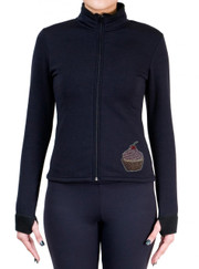 Fitted Skating Fleece Jacket with Rhinestones R152