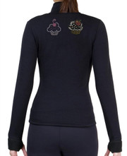 Fitted Skating Fleece Jacket with Rhinestones R183