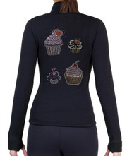 Fitted Skating Fleece Jacket with Rhinestones R184