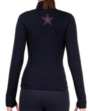 Fitted Skating Fleece Jacket with Rhinestones R119B1