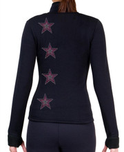 Fitted Skating Fleece Jacket with Rhinestones R119B