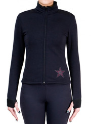 Fitted Skating Fleece Jacket with Rhinestones R119