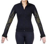 Fitted Skating Fleece Jacket with Rhinestones R189