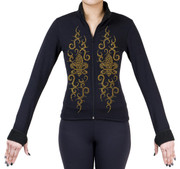 Fitted Skating Fleece Jacket with Rhinestones R187
