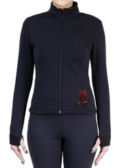 Fitted Skating Fleece Jacket with Rhinestones R192F