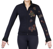 Fitted Skating Fleece Jacket with Rhinestones R207