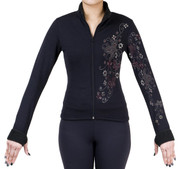 Fitted Skating Fleece Jacket with Rhinestones R30C