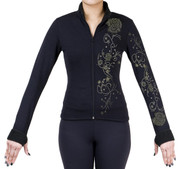 Fitted Skating Fleece Jacket with Rhinestones R51C