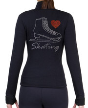 Fitted Skating Fleece Jacket with Rhinestones R221