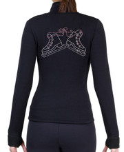 Fitted Skating Fleece Jacket with Rhinestones R223