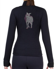 Fitted Skating Fleece Jacket with Rhinestones R269