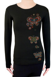 Long Sleeve Shirt with Rhinestones R206