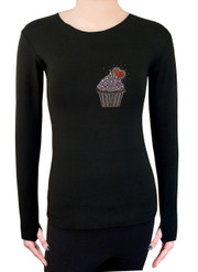 Long Sleeve Shirt with Rhinestones R173
