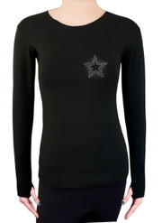 Long Sleeve Shirt with Rhinestones R137