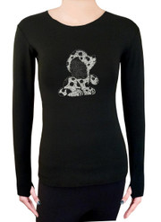 Long Sleeve Shirt with Rhinestones R133
