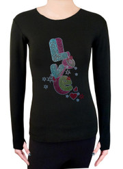 Long Sleeve Shirt with Rhinestones R04