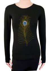 Long Sleeve Shirt with Rhinestones R23