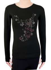 Long Sleeve Shirt with Rhinestones R30