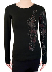 Long Sleeve Shirt with Rhinestones R30C
