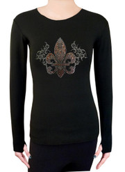 Long Sleeve Shirt with Rhinestones R35