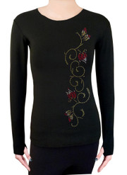 Long Sleeve Shirt with Rhinestones R46