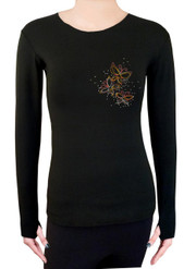 Long Sleeve Shirt with Rhinestones R50