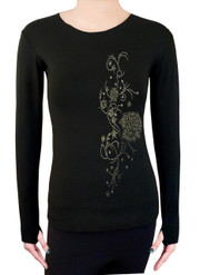 Long Sleeve Shirt with Rhinestones R51