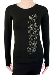 Long Sleeve Shirt with Rhinestones R52