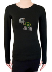 Long Sleeve Shirt with Rhinestones R53