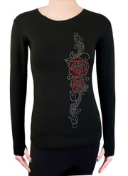 Long Sleeve Shirt with Rhinestones R85