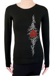 Long Sleeve Shirt with Rhinestones R87