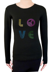 Long Sleeve Shirt with Rhinestones R89