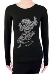 Long Sleeve Shirt with Rhinestones R95
