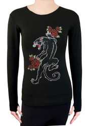 Long Sleeve Shirt with Rhinestones R97
