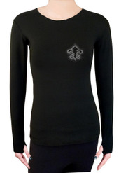 Long Sleeve Shirt with Rhinestones R109