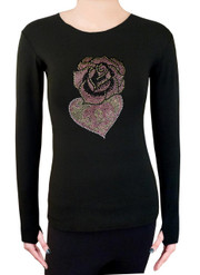 Long Sleeve Shirt with Rhinestones R117