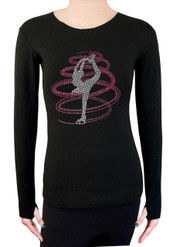 Long Sleeve Shirt with Rhinestones R254RP
