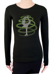 Long Sleeve Shirt with Rhinestones R254LM - Lime