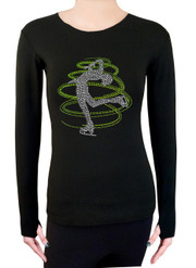 Long Sleeve Shirt with Rhinestones R230LM - Lime