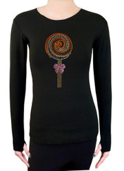 Long Sleeve Shirt with Rhinestones R282OR
