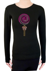 Long Sleeve Shirt with Rhinestones R282PK