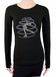 Long Sleeve Shirt with Rhinestones R257LP
