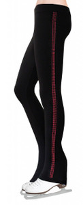 Skating Pants with Rhinestones Side Stripe - Fuchsia