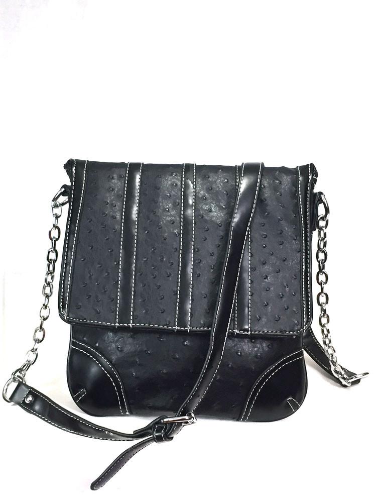 Zzfab Ostrich Cross Body Bag Black